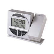 Technoline Radio Controlled Alarm Clock with Projection Silver