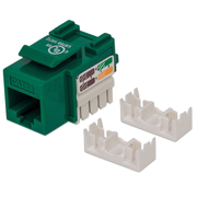 Intellinet Keystone Jack, Cat5e, UTP, Punch-down, Green