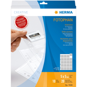 HERMA Slide pockets for 35 mm slides for thin frames film clear/matt 10 pockets
