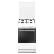 Amica SHGG 11559 W, Freestanding cooker, White, Buttons,Rotary, Front, Gas, 4 zone(s)