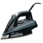 Braun TexStyle 7 TS745A Steam iron Eloxal soleplate 2400 W Black, Grey