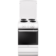Amica SHE 5841W, Freestanding cooker, White, Rotary, Top front, Sealed plate, 4 zone(s)