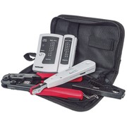 Intellinet 4-Piece Network Tool Kit, 4 Tool Network Kit Composed of LAN Tester, LSA punch down tool, Crimping Tool and Cut and Stripping tool
