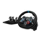 Logitech G G29 Black USB 2.0 Steering wheel + Pedals Analogue Playstation 3, PlayStation 4