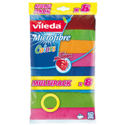 Vileda 148394 cleaning cloth Microfibre, Polyamide, Polyester Multicolour 8 pc(s)