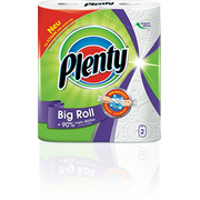 Plenty Big Roll paper towels 86 sheets Green, White