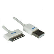 DINIC IP-MFI-05 Handykabel Weiß 0,5 m USB A Apple 30-pin