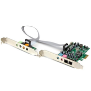 StarTech.com 7.1 Channel Sound Card - PCI Express, 24-bit, 192KHz, 7.1 channels, Internal, 24 bit, 92 dB, PCI-E x1