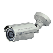 Conceptronic 700TVL Vari-focal CCTV Camera, CCTV security camera, Outdoor, Wired, Bullet, Ceiling/wall, Silver