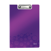Leitz WOW Clipfolder with cover clipboard A4 Metal, Polyfoam Purple