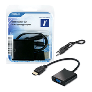 Innovation IT 2A 301361 DISPLAY video cable adapter 0.1 m HDMI VGA (D-Sub) Black