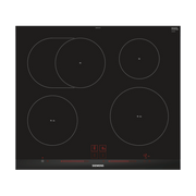 Siemens EH675LFC1E hob Black, Stainless steel Built-in Zone induction hob 4 zone(s)