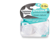 Tommee Tippee Any Time Classic baby pacifier Silicone Transparent
