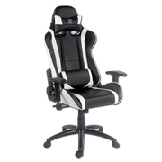 LC-Power LC-GC-2 video game chair PC gaming chair Black, White
