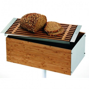 WMF Gourmet bread box Brown Bamboo, Stainless steel