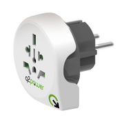 q2-power 1.100100 power plug adapter Universal Type F White