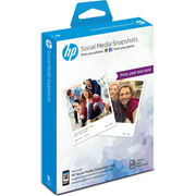 HP Social Media Snapshots Removable Sticky -25 sheet/10 x 13 cm photo paper White Semi-gloss