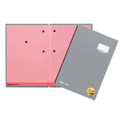 Pagna 24202-06, Conventional file folder, A4, Cardboard, Plastic, Grey, Portrait, 240 mm