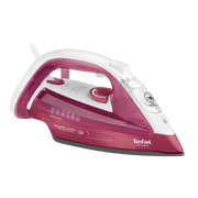 Tefal UltraGliss FV4920 iron Steam iron Durilium soleplate 2400 W Red, White