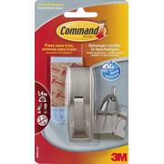 Command WMR02BNC home storage hook Towel hook Metallic 1 pc(s)