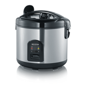 Severin RK 2425 rice cooker 3 L 650 W Black, Stainless steel