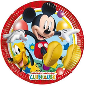 Disney Mickey Mouse Clubhouse 81508 dining plate Oval Paper Multicolour 8 pc(s)