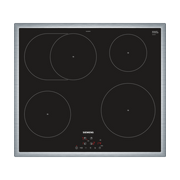 Siemens EH645BFB1E hob Black, Stainless steel Built-in Zone induction hob 4 zone(s)