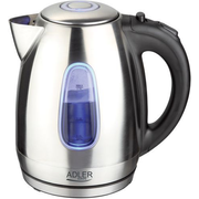 Adler AD1223 electric kettle 1.7 L 2000 W Black, Stainless steel