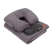 Perel ACCS3 travel pillow Inflatable Black, Grey