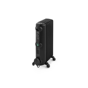 DeLonghi TRRS 0715 CB electric space heater Indoor Black 1500 W Oil electric space heater