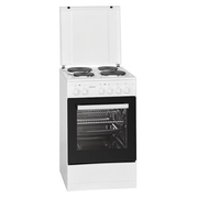Bomann EH 561 Freestanding cooker Sealed plate White A