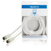 Valueline VLSB41300W100 coaxial cable 10 m F White