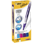 BIC Velleda marker 4 pc(s) Blue, Light Blue, Pink, Purple