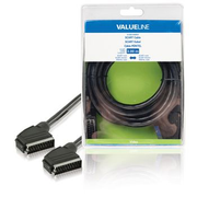 Valueline SCART, 3m SCART cable SCART (21-pin) Black