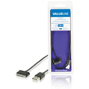 Valueline VLMB39200B10 mobile phone cable Black 1 m USB A Samsung 30-pin
