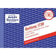 Avery 1736 accounting form/book A6 40 pages