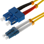 Helos 1m OS2 LC/SC fibre optic cable Yellow