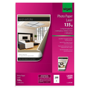 Sigel LP341 printing paper A4 (210x297 mm) Gloss 200 sheets White