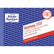 Avery 1737 accounting form/book A6 40 pages