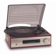 Bigben Interactive TD012 audio turntable Brown, Silver