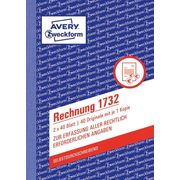 Avery 1732 accounting form/book A6 40 pages