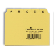 Durable 3670/04 index card Yellow 25 pc(s)