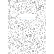 HERMA Exercise book cover A4 SCHOOLYDOO, white