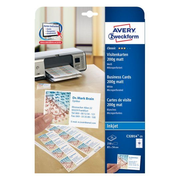 Avery C32014-25 business card Inkjet Carton White