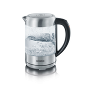 Severin WK 3470 electric kettle 1.5 L 2200 W Silver, Transparent
