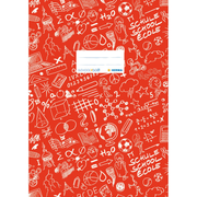 HERMA Exercise book cover A4 SCHOOLYDOO, red