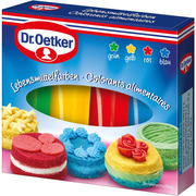 Dr. Oetker 146227100 Gel Blue, Green, Red, Yellow Artificial food coloring