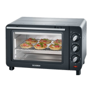 Severin TO 2064 toaster oven 14 L 1200 W Black, Silver Grill