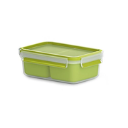 EMSA 518101 lunch box Lunch container 1 L Polypropylene (PP), Thermoplastic elastomer (TPE) Green, Transparent 1 pc(s)