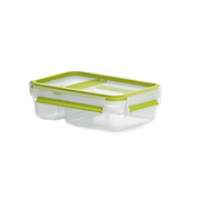 EMSA 518103 lunch box Lunch container 0.6 L Polypropylene (PP), Thermoplastic elastomer (TPE) Green, Transparent 1 pc(s)